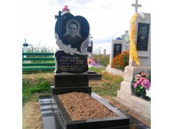 Надгробие в форме четырехугольного стол заказ памятника на кладбище Кинель